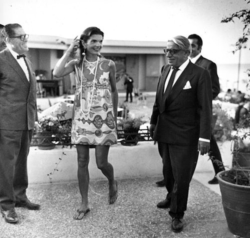 Jackie O Casual in Greece in Pucci Shift for her 40th birthday 1969