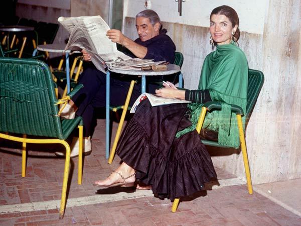 Jackie O in Capri with Ari