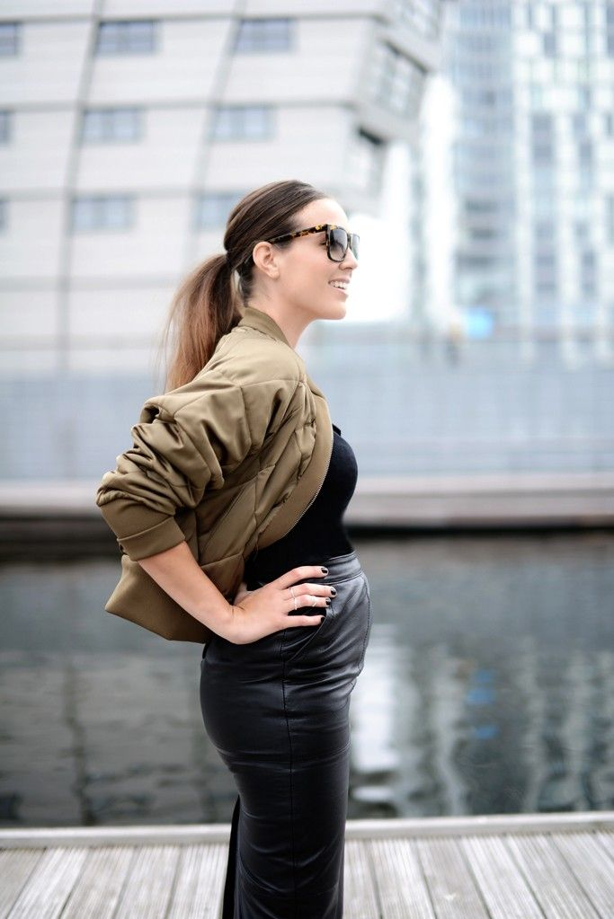 Bump Style - Leather Skirt
