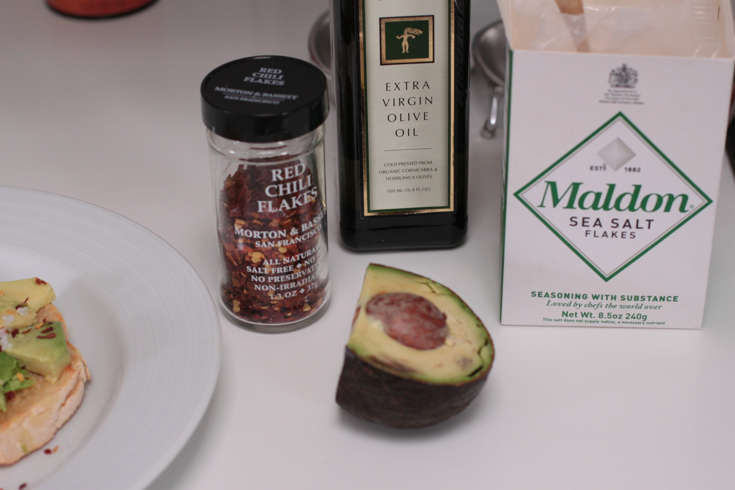 Ingredients for MM's Avo Toast