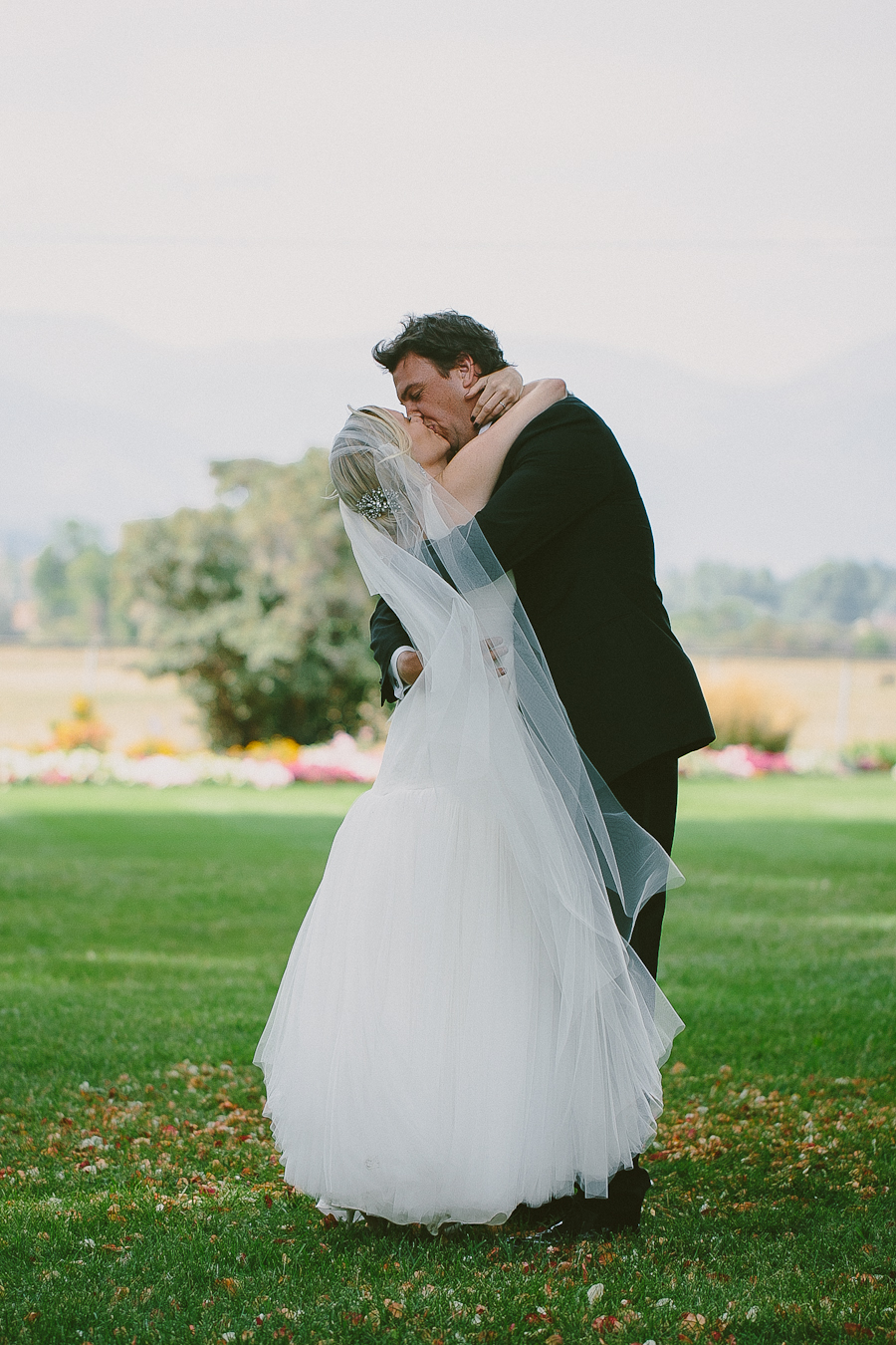 Our first kiss as husband and wife. Fritz and Melissa 2013