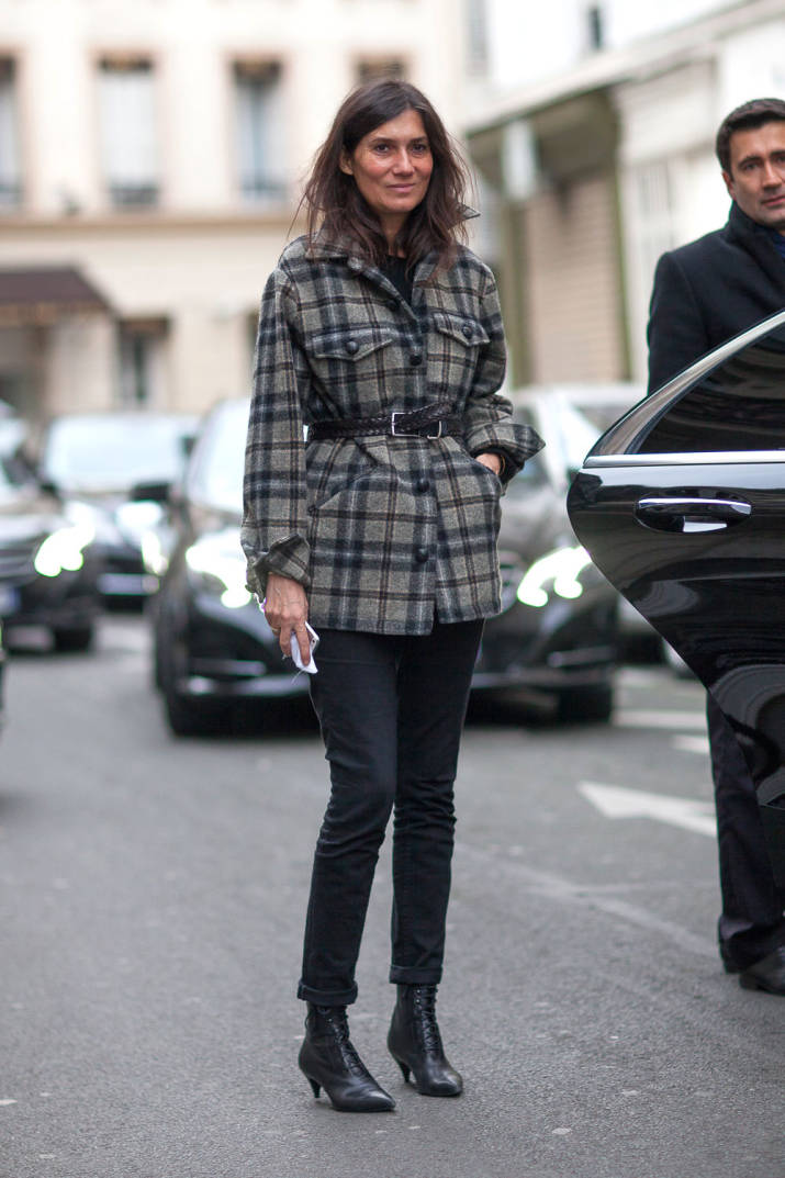 Emmanuel Alt PFW 14 Belted Plaid Coat