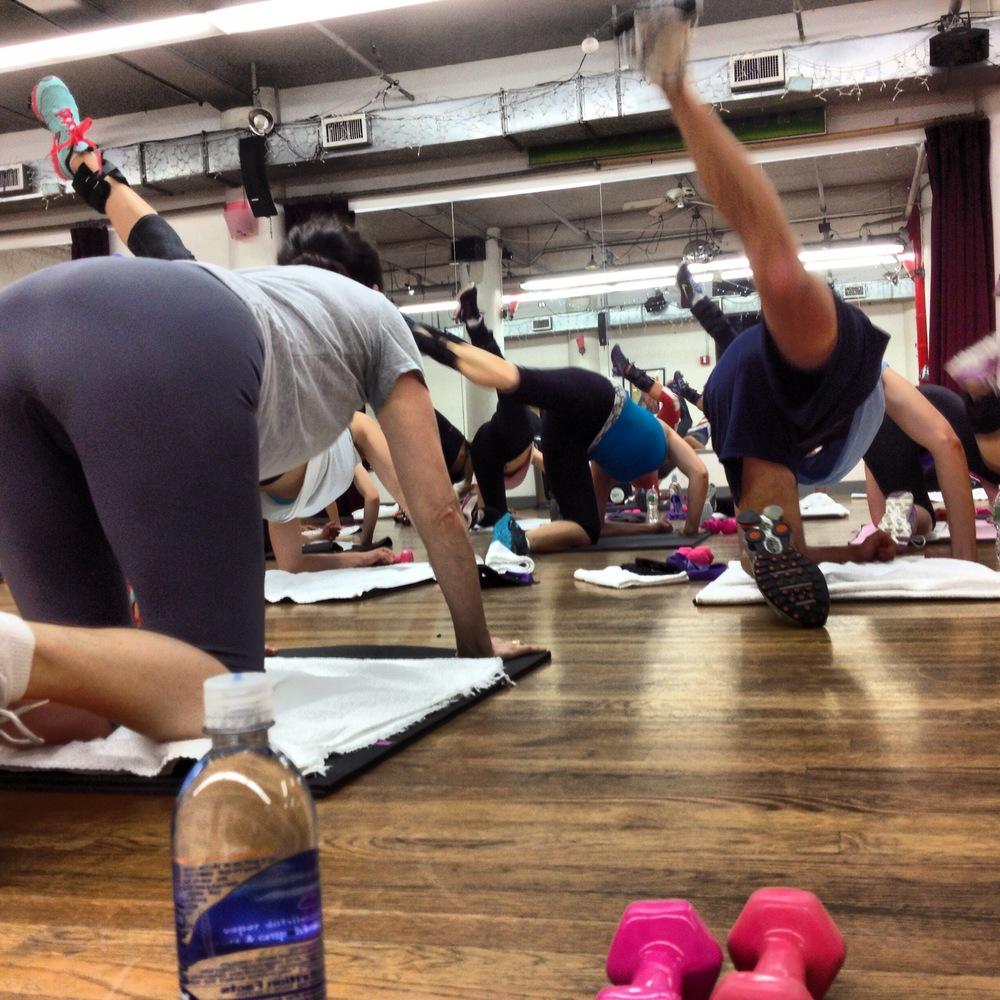 Doing Tracy Anderson Leg Work _JNSQ