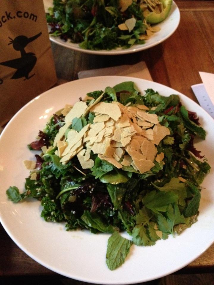 One Lucky Duck Gramercy Park on East 17th Street - salad