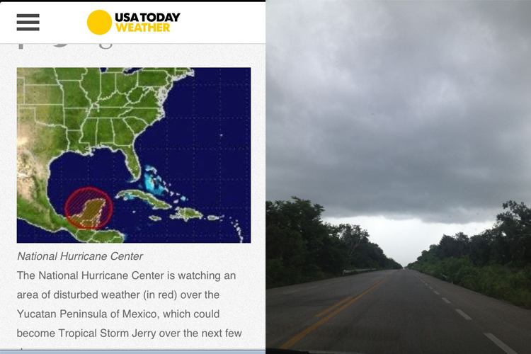 Storm Watch on the Yucatan!