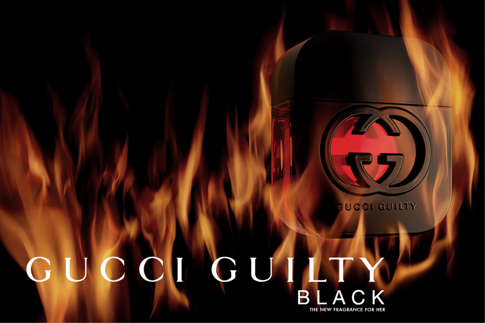 f9d1a9cce6 Gucci Guilty Black for her EDT is a youthful, adventurous fragrance with an  intense and dark scent which is thrilling and addictive.