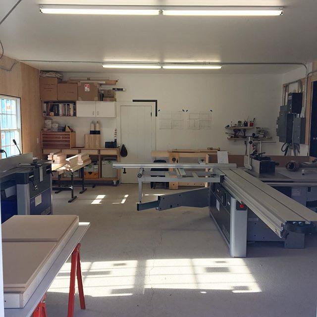 Saturday light in the studio. #furniture #studio #woodworking