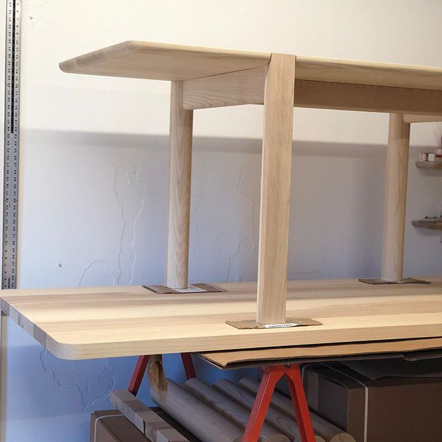 Dining table prototype on top of a dining table prototype