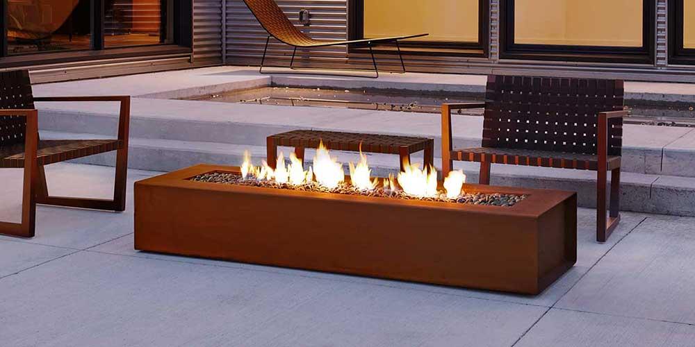 corten fire pit