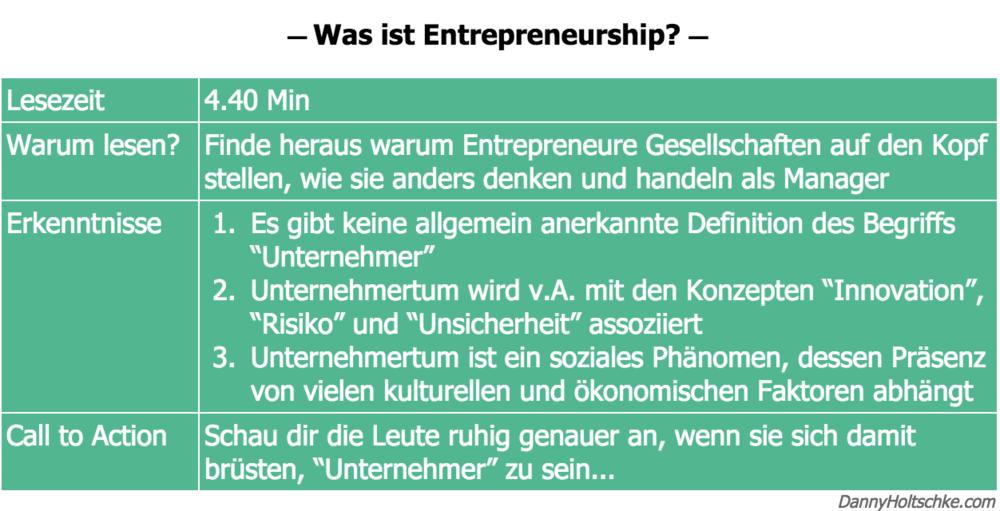 Was Ist Entrepreneurship Danny Holtschke