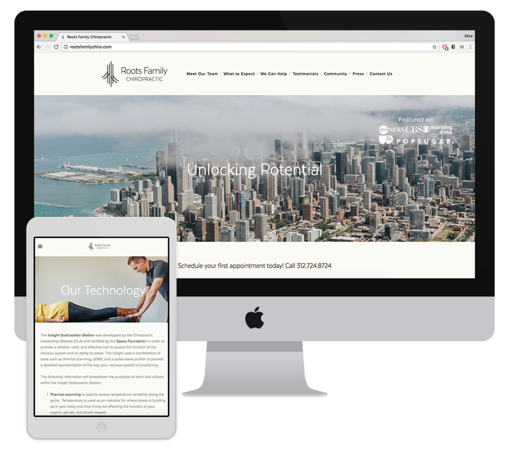 Website - The challenge of designing this website was including lots of content presented in a well organized and visually appealing way.