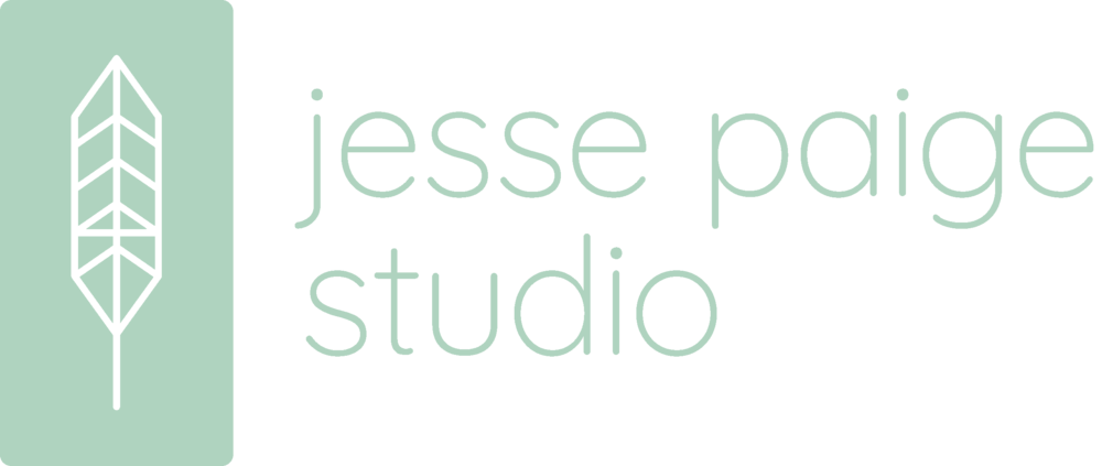 Logo - Jesse wanted a clean and modern design that was boho chic and incorporated some sort of floral or greenery element.