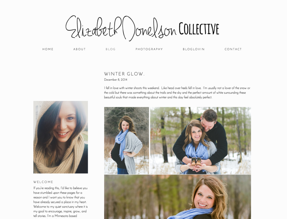 Elizabeth Donelson Photography Branding + Website | Leia Bryn, Recent Work