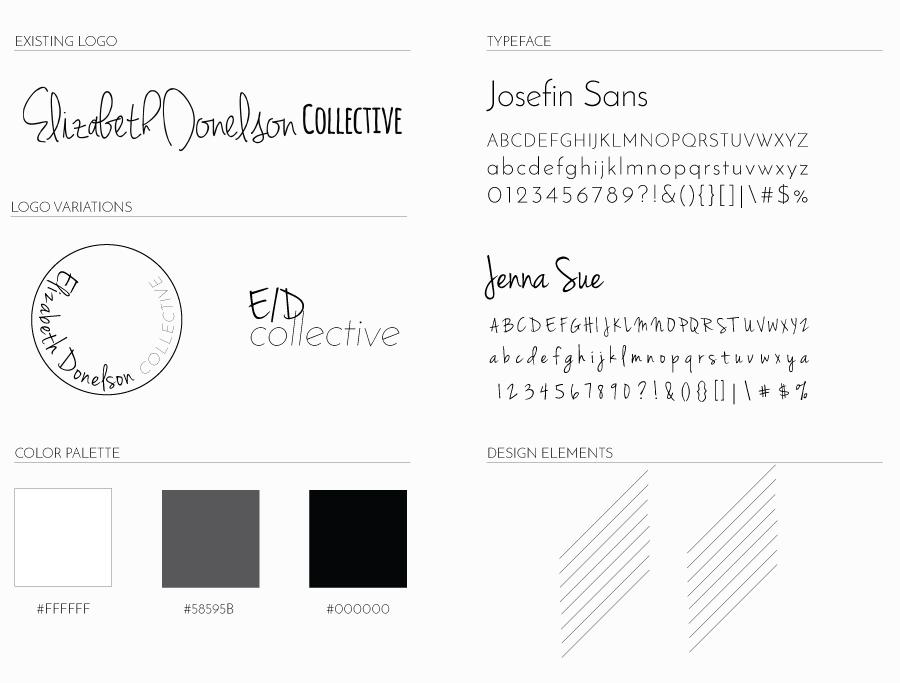 Elizabeth Donelson Collective Brand + Website | Leia Bryn, Recent Work