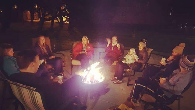 Senior camfire with Fr Andrew. #talkingaboutsaints #sundaysmores #keepitholy