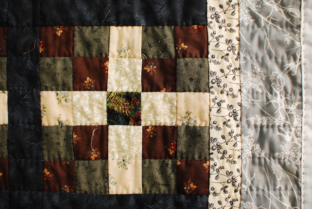 Raccoon Kit Quilt Detail, 2010