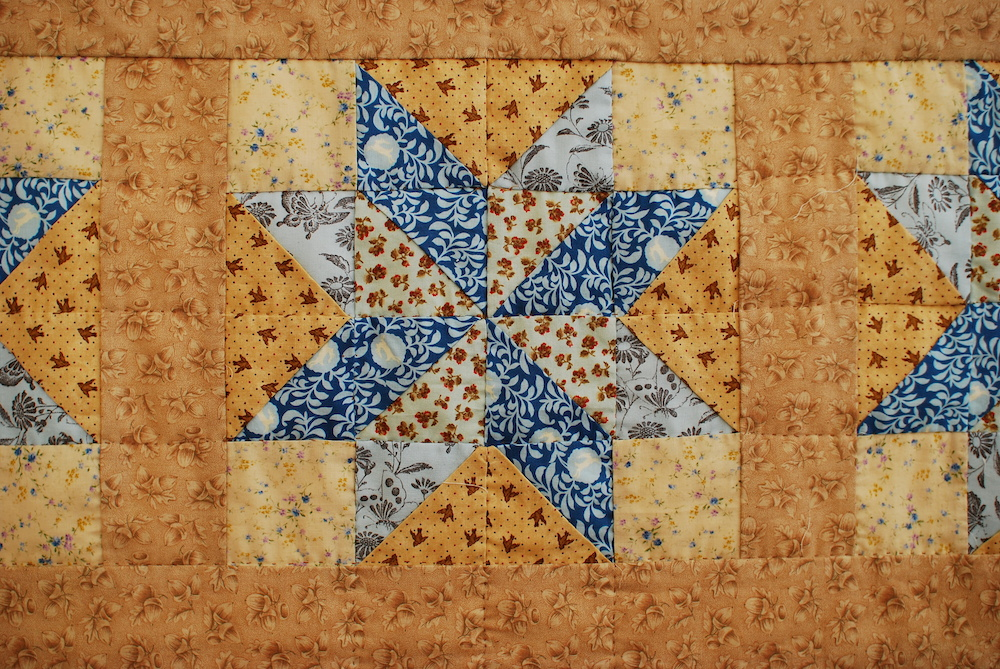 Fawn Quilt , (before animal contact) detail, hand stitched quilting cotton, 2010