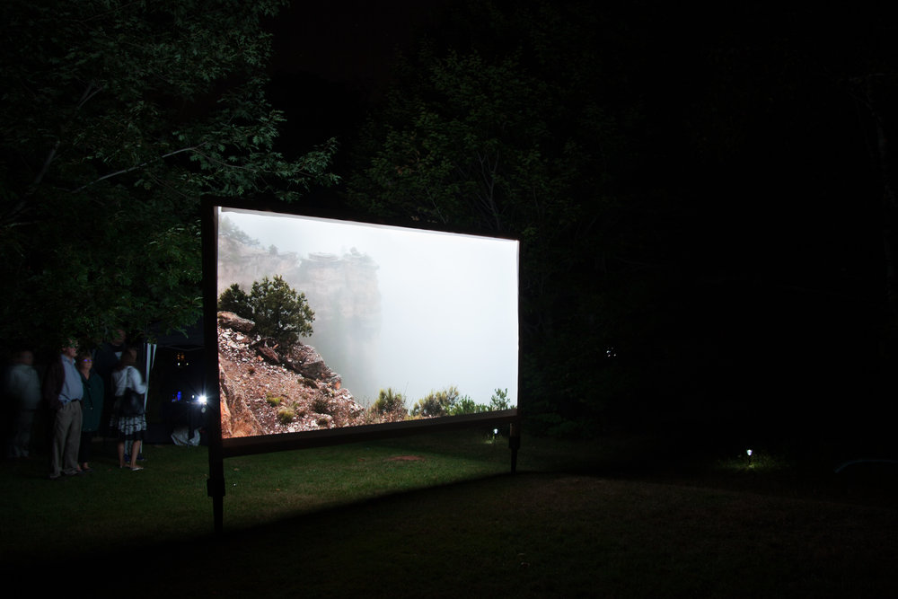 No Deliverance  , Public projection at Art in the Open, Charlottetown, PE, August 2016