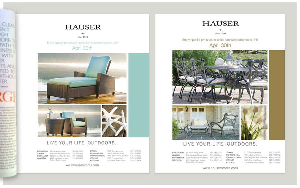 Hauser Stores   Patio Furniture Print Ads