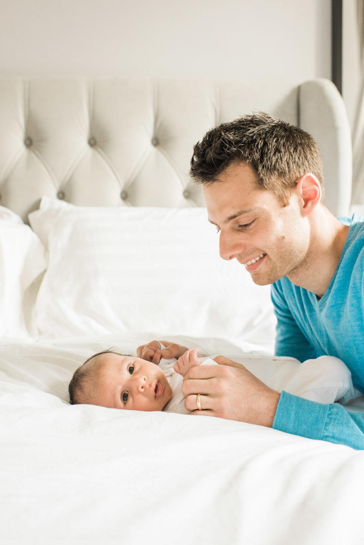 Baby and daddy, newborn, baby boy, hoboken newborn portrait
