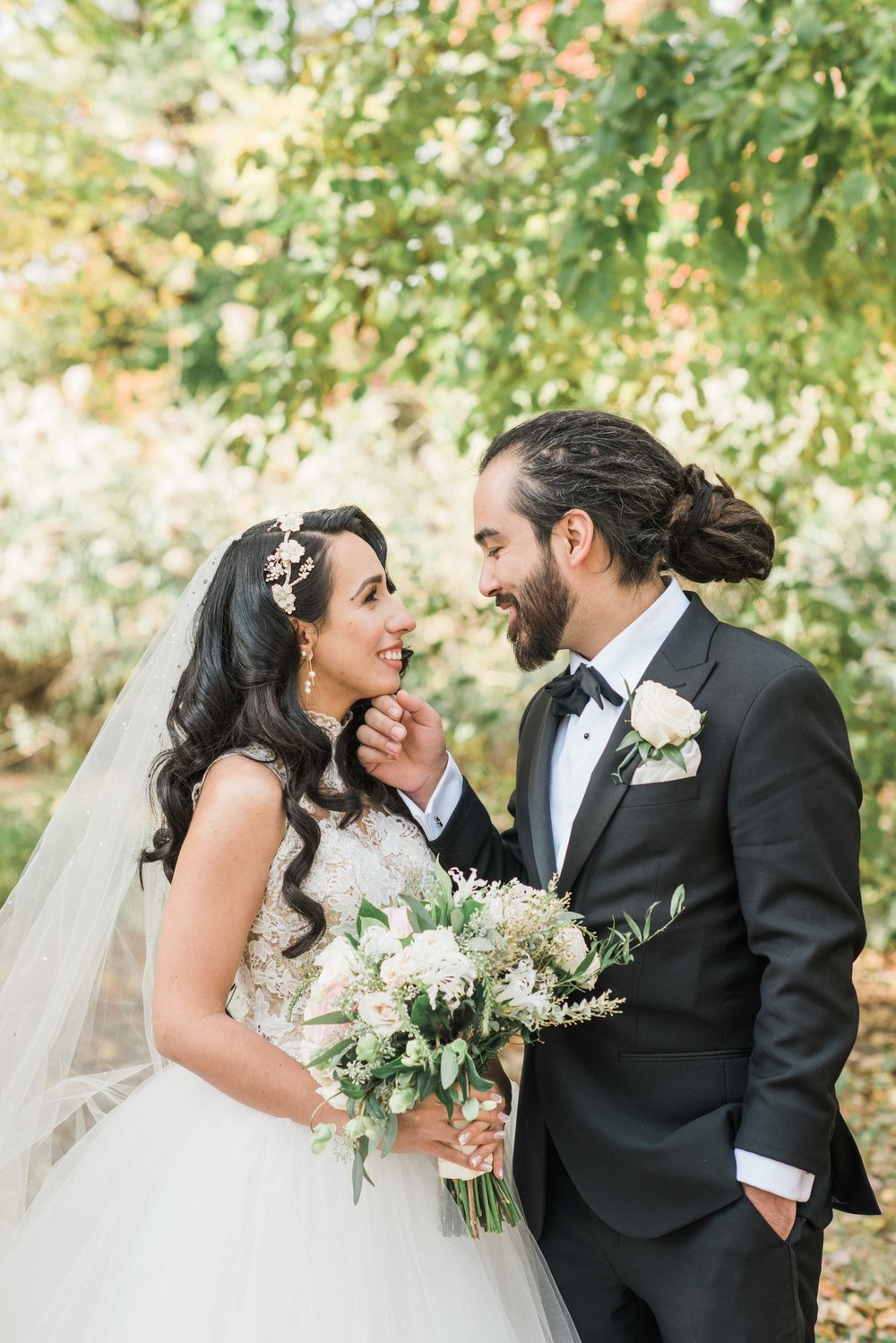 Bride and Groom, Turkish Bride and Groom, Turkish Wedding in New York, Turkish Wedding in Brooklyn, Brooklyn Turkish Wedding, Turkish Couple, Muslim Wedding, Prospect Park, Wedding Flowers, Bridal Bouquet, Black Tie Wedding, Wedding dress, Wedding Inspiration, Wedding gown, groom with long hair, groom with dreadlocks, hair extensions, bridal hair, princess wedding gown