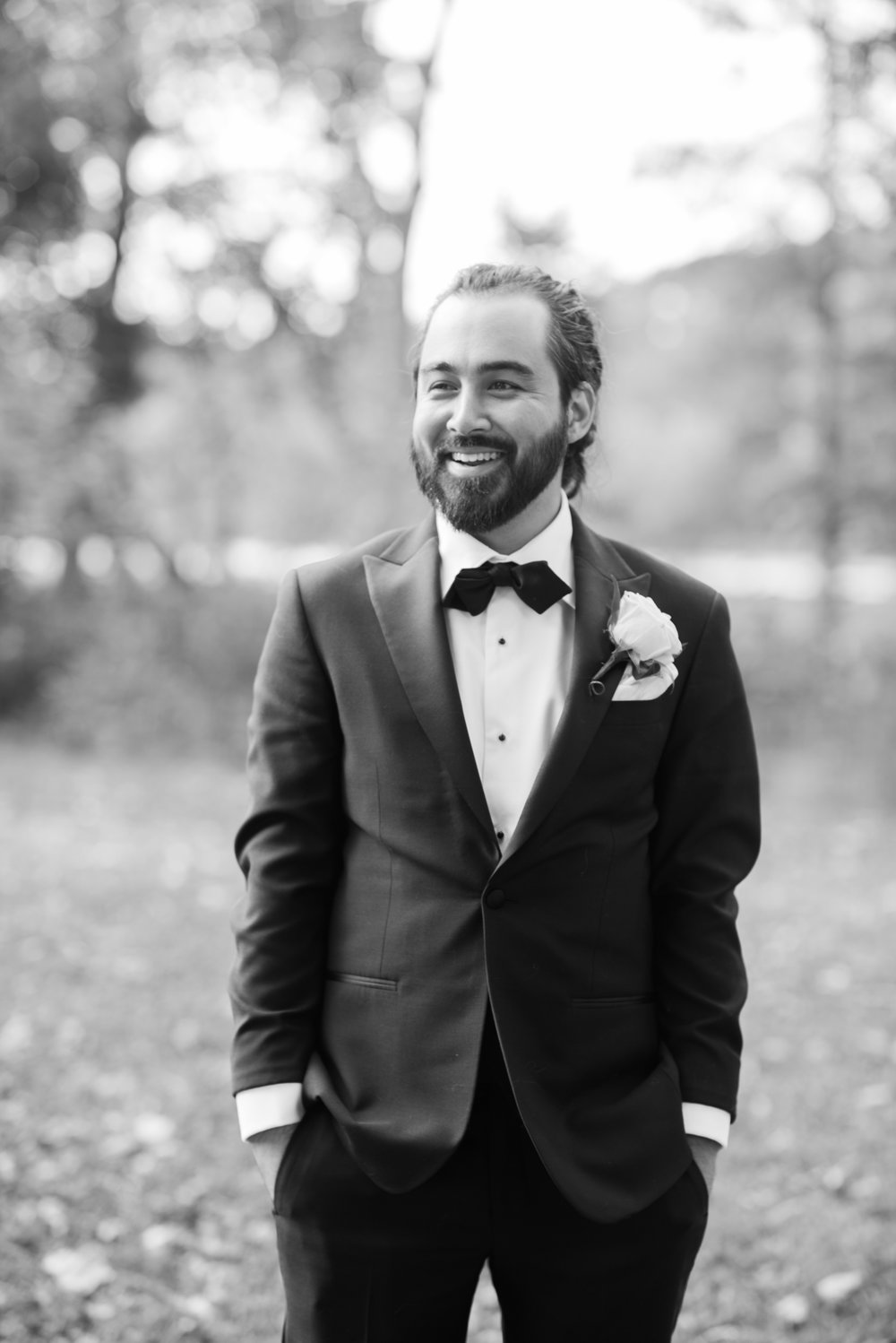 Groom portrait, Groom wearing Tuxedo, Tuxedo rental, rented Tuxedo, handsome groom, wedding day, black and white photo, black and white photo of groom, groom with dreadlocks, turkish groom, prospect park, prospect park wedding day photo, prospect park groom photo