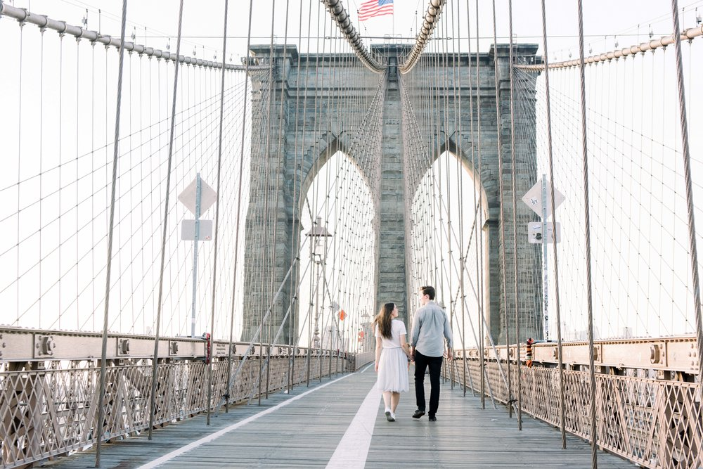 Brooklyn Bridge Engagement, Brooklyn Bridge Golden Hour, Brooklyn Bridge Engagement Photos, Brooklyn Bridge Proposal, Brooklyn Bridge Sunrise, Brooklyn Bridge Sunrise Engagement Session