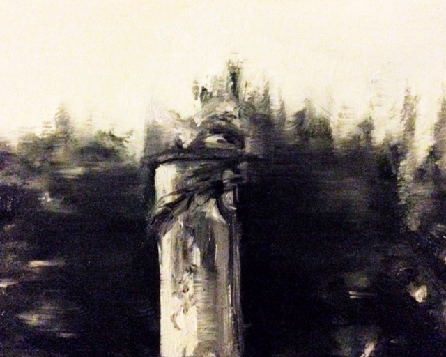Paddington Old Cemetery.  Kilburn  Oil on wood. 12.9.16