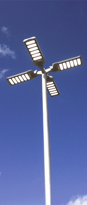 Awaken LED Lighting - LED Streetlight - 4 on a pole