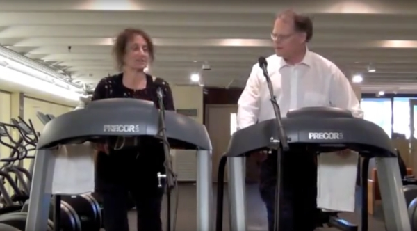 Liz Lerman, the Treadmill Tapes at Harvard University: Ideas on the Move, Cambridge, 2011