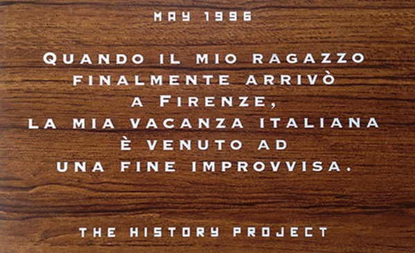 Christopher Jagmin, The History Project, Florence Italy (43.776116, 11.248461), 1996