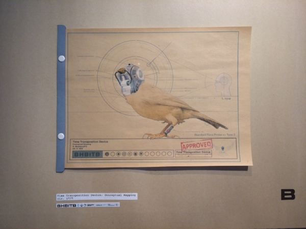 Joshua Haycraft,  Time Transportation Device Plaque , archival inkjet, 2011