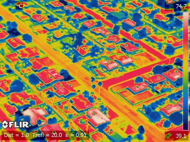 Infrared Phoenix helicopter image: Peter Crank, ASU Urban Climate Research Center