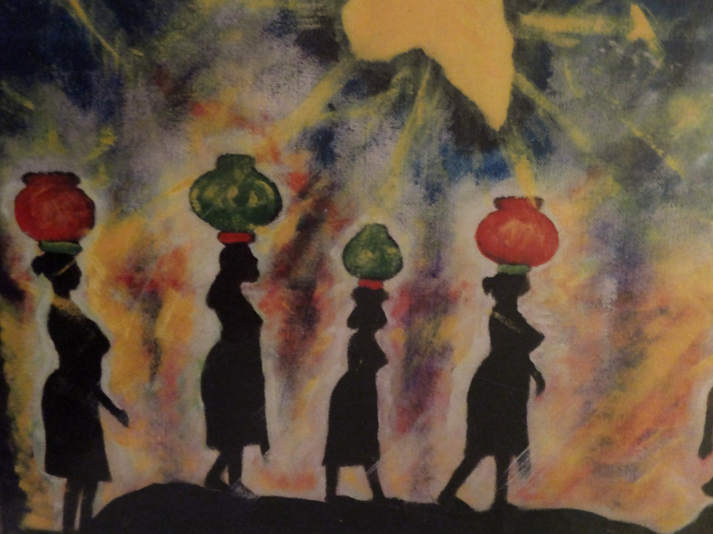 Earl Cooke,  Sisters of Africa , acrylic on canvas, 1986