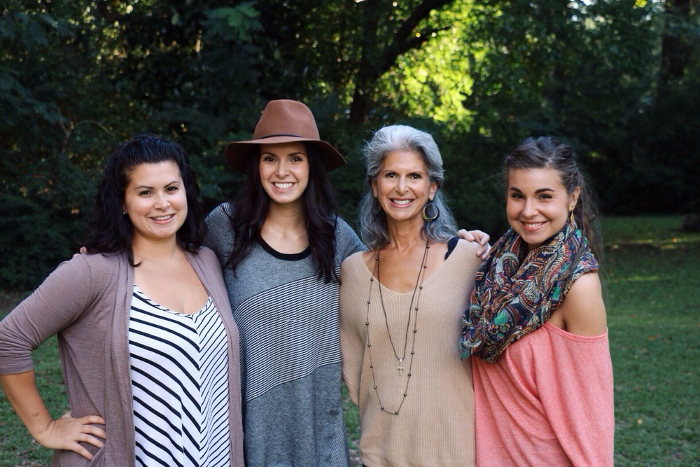Mom and sisters.