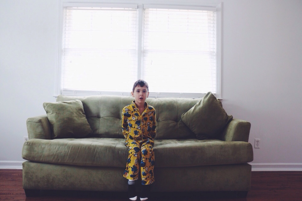 I wish he would never grow out of these minion pj's.