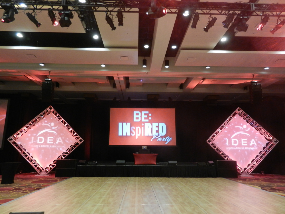 Corporate Event - Idea World Fitness Convention - dance floor