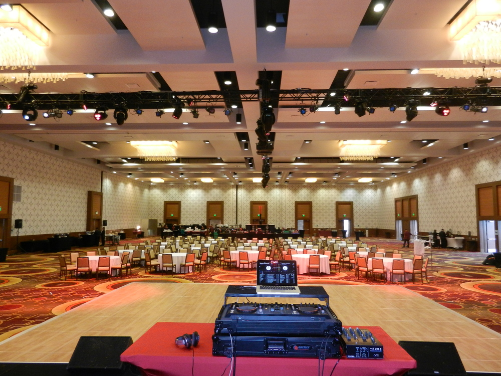 Corporate Event - Idea World Fitness Covention - DJ Booth shot