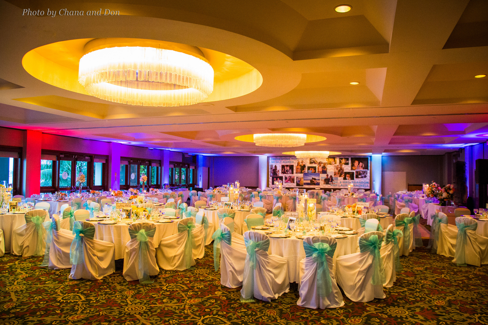 LED uplighting - San Diego Wedding