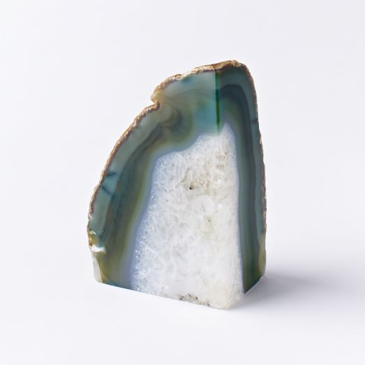 West Elm- Agate Bookends