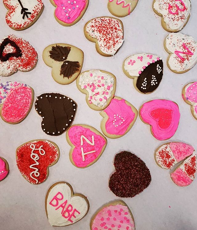 Happy Valentine's Day from our team!  #cookiedecorating #hibnerdesign #valentinesday