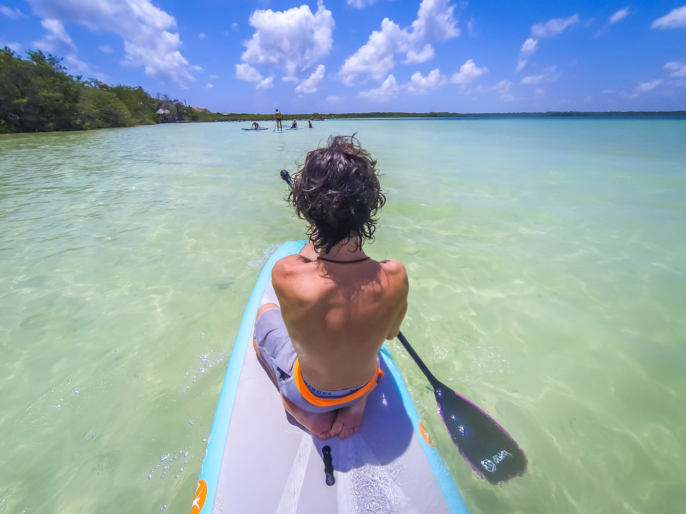 Paddle Boarding and Yoga in Tulum.