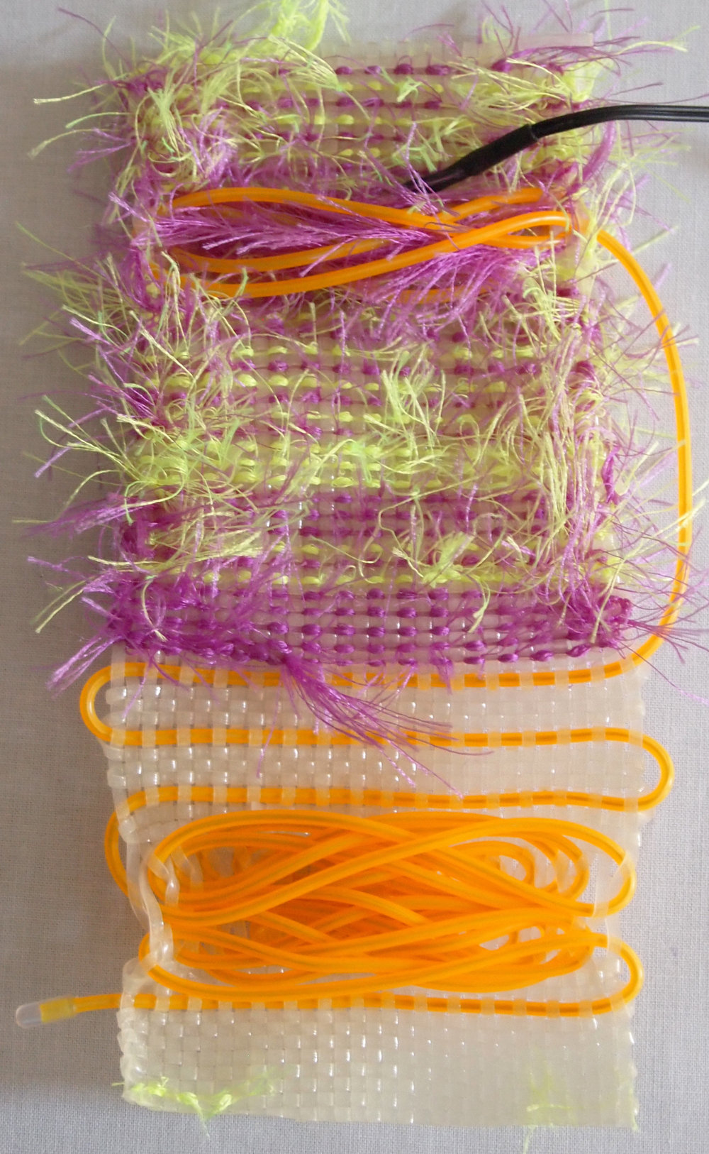 Hand Woven  Glow-in-the-dark Plastic Lacing,Monofilament, LED Wire