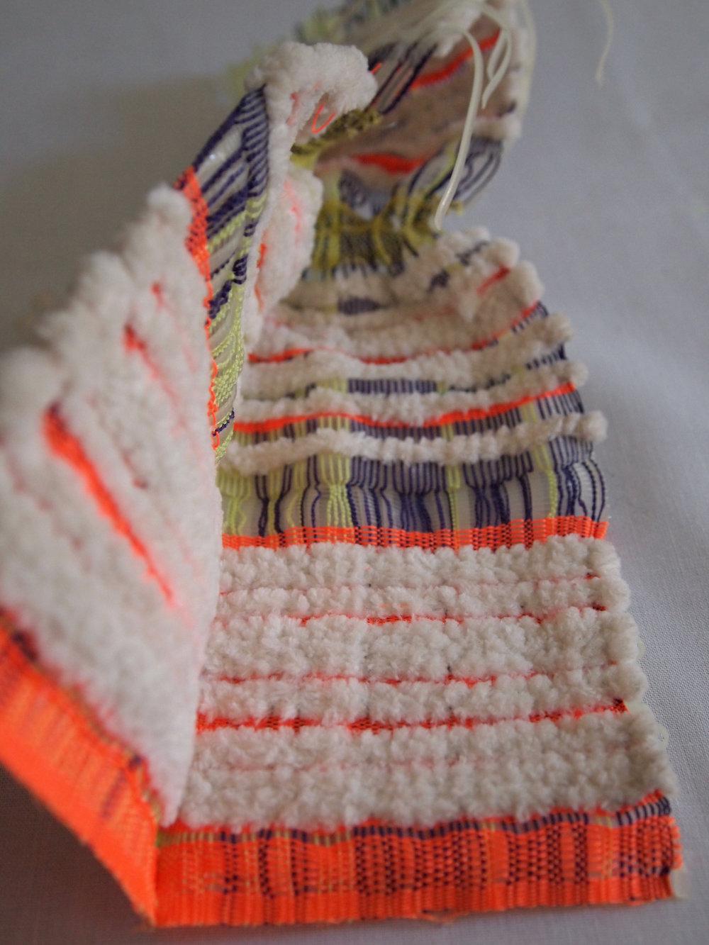 Hand Woven  Glow-in-the-dark Plastic Lacing, Nylon Elastic, Nylon Thread, Acrylic, Polyester, Monofilament