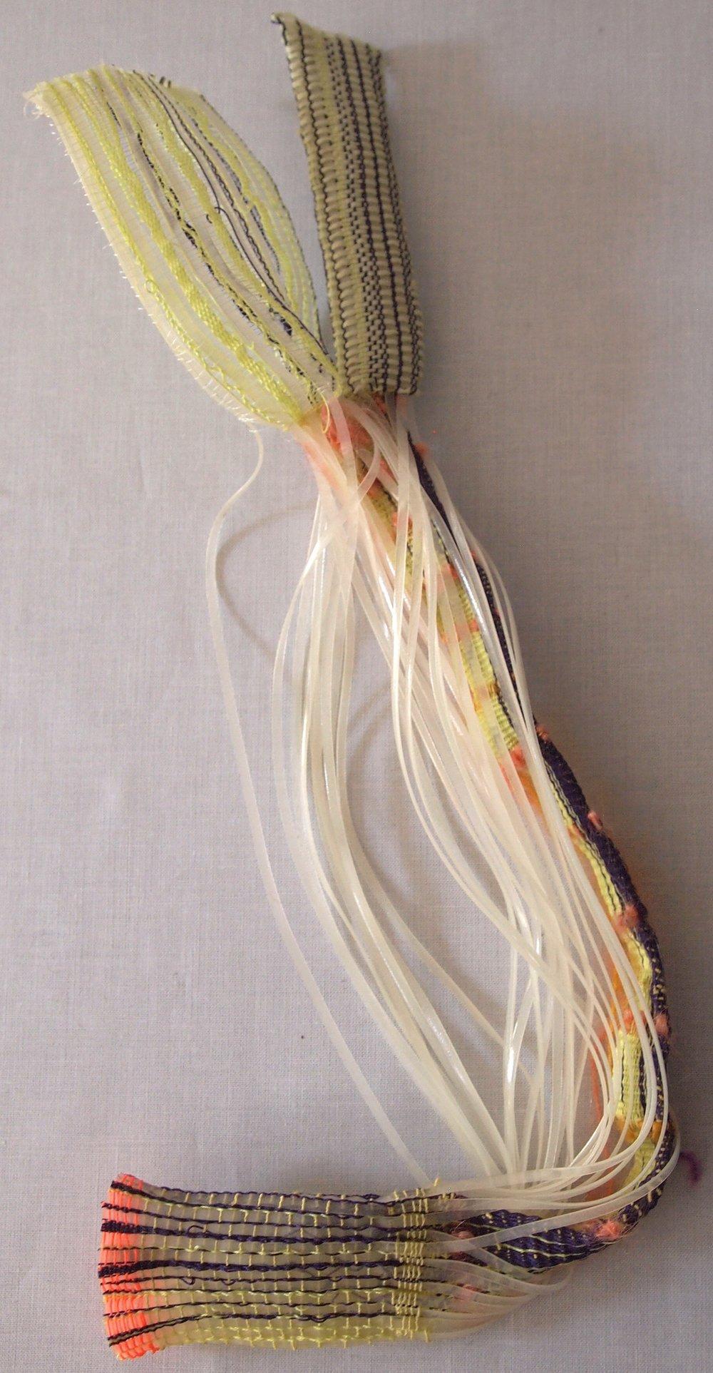 Hand Woven  Glow-in-the-dark Plastic Lacing, Nylon Elastic, Nylon Thread, Polyester, Monofilament
