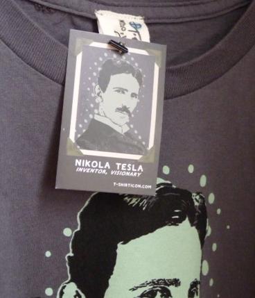 Nikola Tesla t-shirt and card