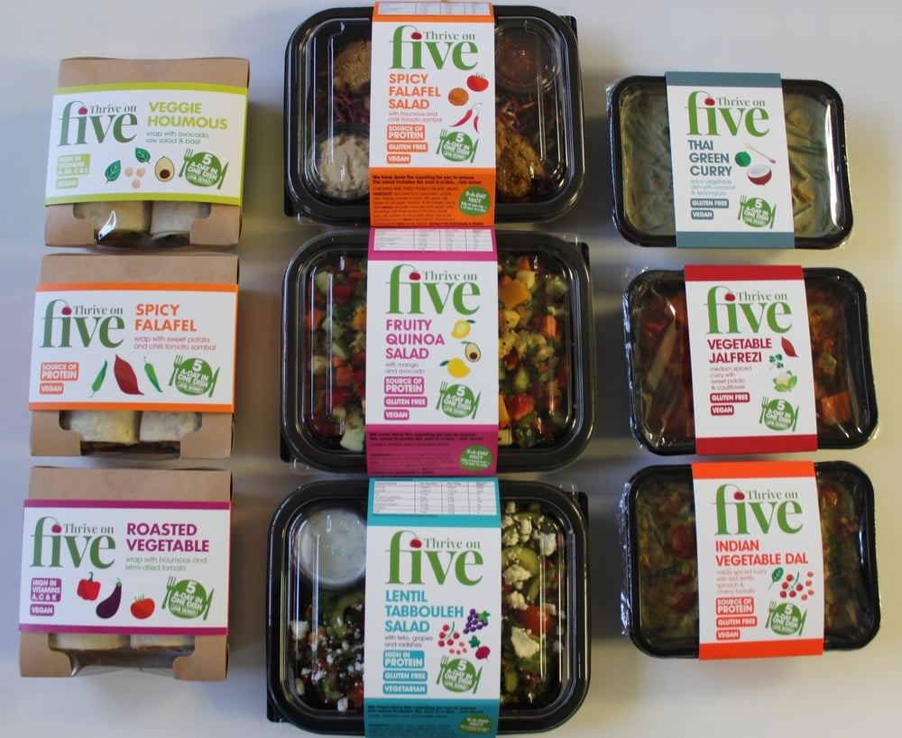 Our delicious salads, wraps and curries are now available at Planet Organic Stores across London.  We offer many vegan, gluten-free and low calorie options, and all our dishes give you ALL your 5-a-day in a really easy and tasty way.    Check out the full range:  http://www.thriveonfive.co.uk/our-food-range/