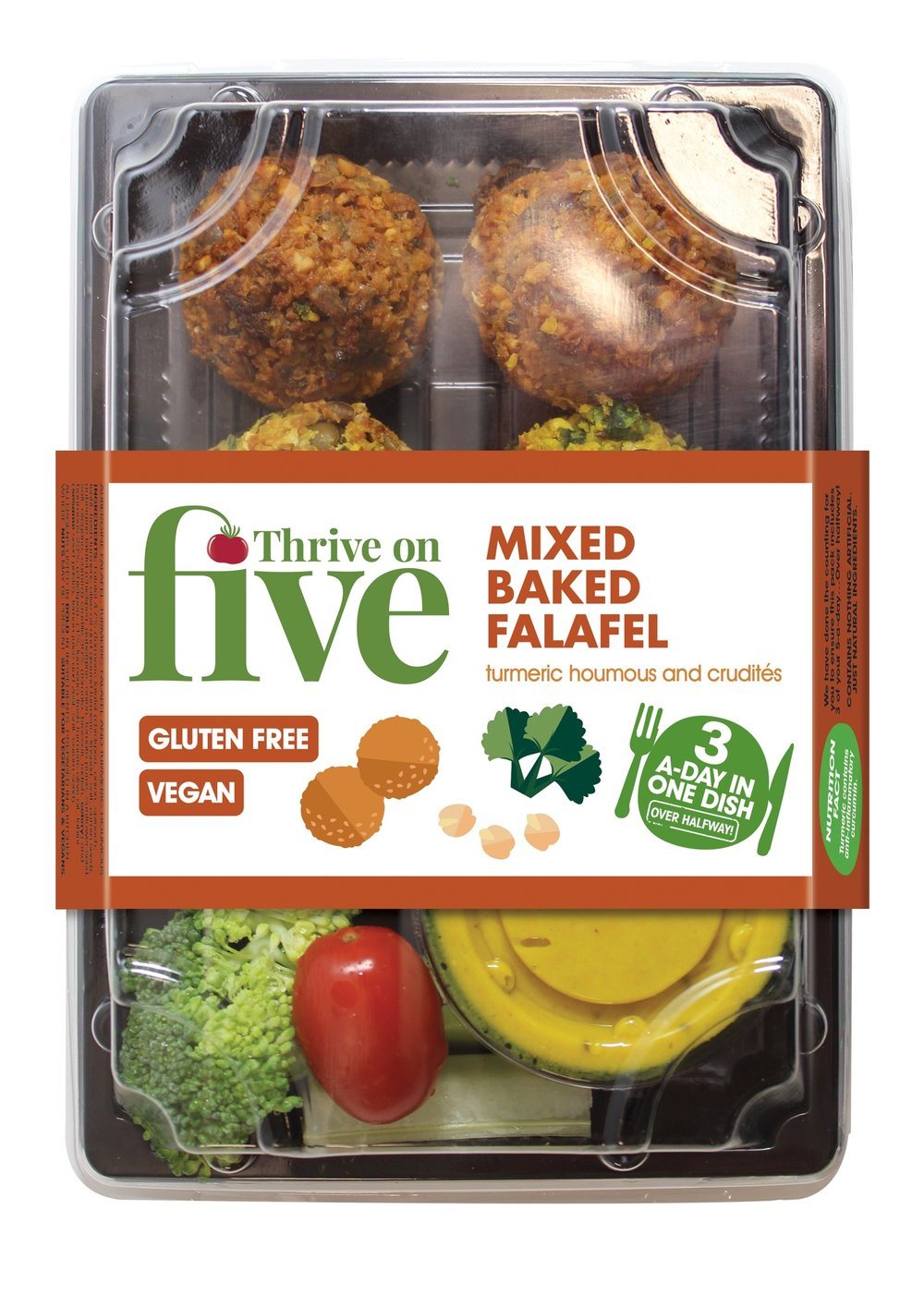 Thrive on Five's range of tasty wraps. A really convenient way to help you get your 5-a-day on the go.