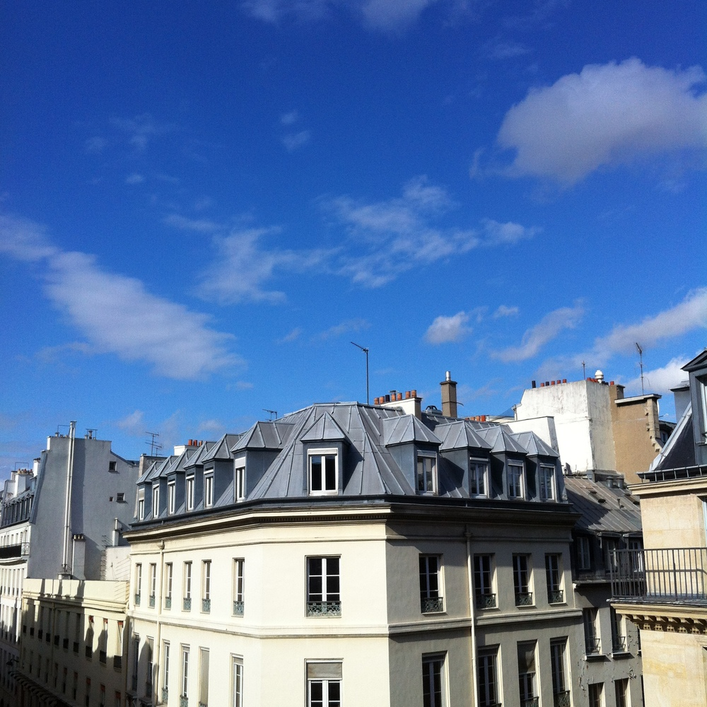 View from the Tilton sisters' apartment in Paris