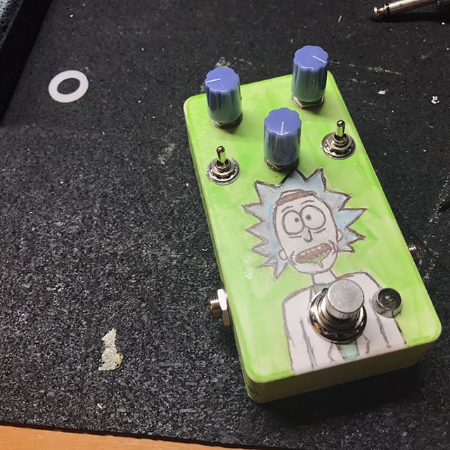 "I (Ryan not Emma who usually posts here) actually did the art for a pedal! @hiebgbs request Rick Sanchez and I tried my best to deliver on the modded OCD overdrive. His band @weatheredmn just released a new EP called, ""Misnomer,"" and you should check. it. out. I toured with them and had their track, ""Morning,"" burned in to my head for months! Stoked to be able to make them something!"